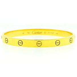 Cartier LOVE Bracelet 18k Yellow Gold Old Screw System Size 18