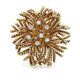 Tiffany & Co. Diamond Sea Anemone Vintage Brooch Pin in 18k Yellow Gold
