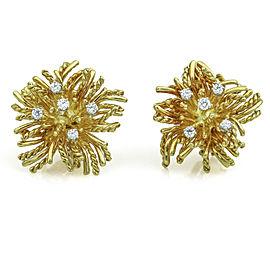 Tiffany & Co. Vintage Sea Anemone Diamond Earrings in 18k Yellow Gold