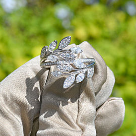 Tiffany & Co. Victoria Vine Bypass Platinum Diamond Cocktail Ring