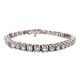 9.00 tcw Round Brilliant Diamond Tennis Bracelet in 14 kt White Gold