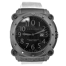 Hamilton Khaki Automatic Below Zero H785850 Steel PVD Date Automatic 50MM Watch