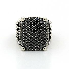 David Yurman Black Diamond Wheaton Ring in Sterling Silver