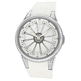 Perrelet Lady Turbine A2044 Diamond MOP Steel Automatic 41MM Watch