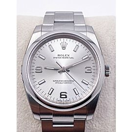 Brand New Rolex Oyster Perpetual 114200 Silver Dial Stainless