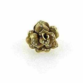 Diamond 14k Yellow Gold Rose Ring