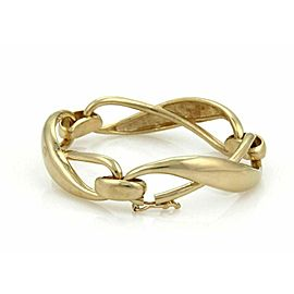 High Curved Infinity Link 14k Yellow Gold Bracelet