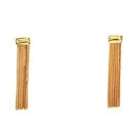 Fancy Drop 18k Yellow Gold Dangle Earrings