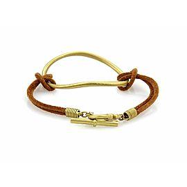 Slane & Slane Fenestra 18k Gold Open Ring Suede Cord Toggle Bracelet