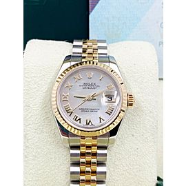 Rolex Ladies Datejust 179173 MOP Dial 18K Yellow Gold Stainless