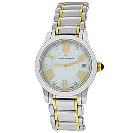 David Yurman Classic T716-G Ladies MOP Diamond Gold Steel 35MM Date Quartz Watch