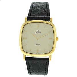 Unisex Omega Deville 1953378 3953378 Solid 18K Yellow Gold Quartz 30MM Watch