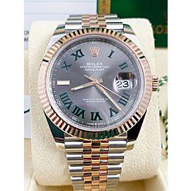 Rolex 126331 Datejust 41 Wimbledon Dial 18K Yellow Gold Stainless