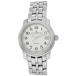 Baume & Mercier Tiffany & Co Capeland MV045214 Steel Date Quartz 37MM Watch