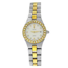 Concord Mariner 11.36.1851 Ladies Diamond Gold Steel Date Quartz 26MM Watch