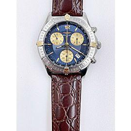 Breitling Chronomat Sirius B53011 Stainless Steel 18K Yellow Gold Leather Strap
