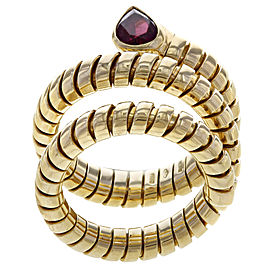 Bulgari 18K Yellow Gold Tourmaline, Diamond Ring Size 7