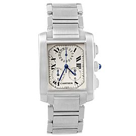Cartier Tank Francaise Chronoflex W51001Q3 37.0mm Mens Watch