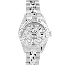 Rolex Datejust Steel White Gold Anniversary Diamond Ladies Watch 79174