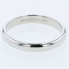 TIFFANY & Co.950Platinum Classic band measures Ring