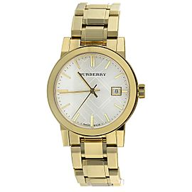 Ladies Burberry Gold Ion Plated Stainless Steel Bracelet Watch BU9203