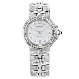 Raymond Weil Parsifal MOP Diamonds Stainless Steel Ladies Watch 9995-DBD