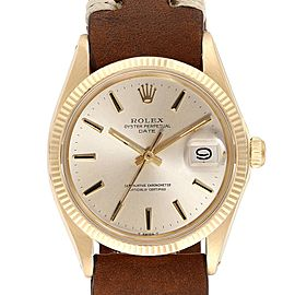 Rolex Date 14K Yellow Gold Automatic Vintage Mens Watch 1503 Box Papers