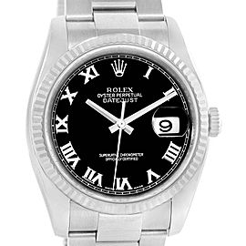 Rolex Datejust Steel 18K White Gold Oyster Bracelet Watch 116234