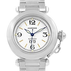 Cartier Pasha C Midsize 35mm Big Date Sainless Steel Watch W31044M7