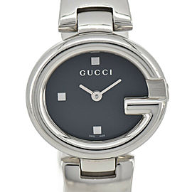 GUCCI 134.5 Black Dial SS Quartz Ladies Watch
