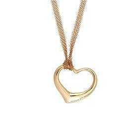 Tiffany & Co 18K Yellow Gold Elsa Perretti Open Heart Necklace