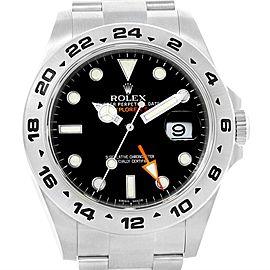 Rolex Explorer II 42mm Black Dial Orange Hand Mens Watch 216570