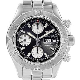 Breitling Aeromarine Superocean Chronograph Steel Mens Watch A13340 Box