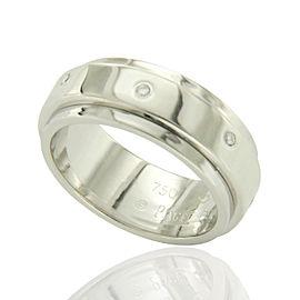 Piaget 18K White Gold Diamonds Rotating Band Ring Size 6