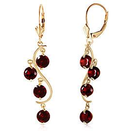 4.95 CTW 14K Solid Gold Grape Garnet Earrings