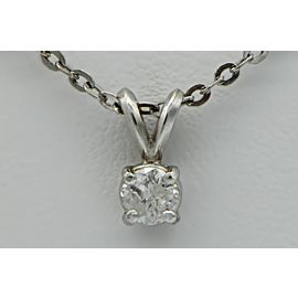 Platinum 0.45ct Diamond Pendant