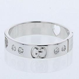 GUCCI K18WhiteGold / diamond Icon Amor 10P Ring TBRK-398