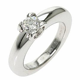 CARTIER Diamond 18k White Gold C de Solitaire Ring