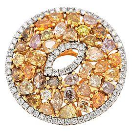 Fancy Variously Shaped Natural Diamonds Cluster Snake Eye Ring Band