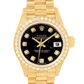 Rolex President Datejust Yellow Gold Diamond Ladies Watch 79138 Box