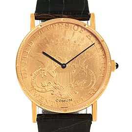 Corum 20 Dollars Double Eagle Yellow Gold Coin Manual Mens Watch