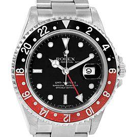 Rolex GMT Master II 40mm Black Red Coke Bezel Mens Watch 16710