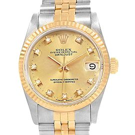 Rolex Datejust Midsize 31 Steel Yellow Gold Ladies Watch 68273 Box