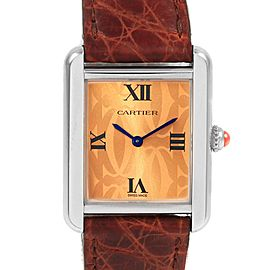 Cartier Tank Solo Orange Dial Limited Edition Ladies Watch W1019455