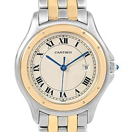 Cartier Cougar Steel 18K Yellow Gold Unisex Watch W35006B6