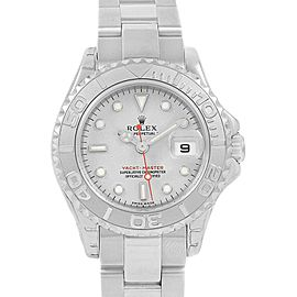Rolex Yachtmaster 29mm Steel Platinum Ladies Watch 169622 Unworn