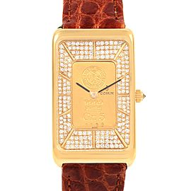 Corum 18K Yellow Gold Diamond 5 Gram Ingot 999.9 Watch