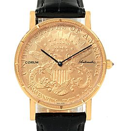 Corum 20 Dollars Double Eagle Yellow Gold Coin Automatic Mens Watch