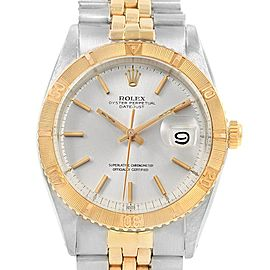 Rolex Datejust Turnograph Steel Yellow Gold Vintage Mens Watch 1625