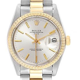 Rolex Date Steel Yellow Gold Oyster Bracelet Vintage Mens Watch 1505